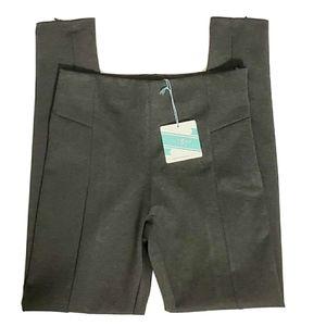 NWT! Umgee Gray Slip-On Side Zip Skinny Pants L